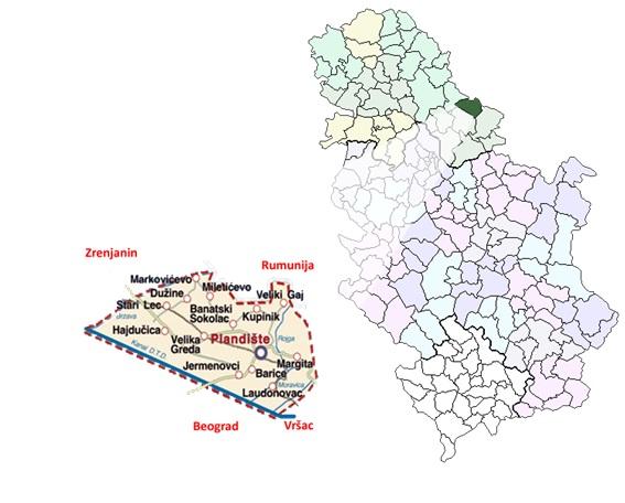 Пландиште - мапа